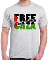 StarlightClothing Starlite Mens Novelty tshirtsFree Palestine-Free Gaza-Chains tshirt