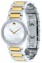 Movado Concerto 0606470 Two-Tone Stainless Steel Mother of Pearl Museum 30mm Watch
