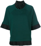 MM6 MAISON MARGIELA short sleeve knitted jumper - women - Cotton - XS