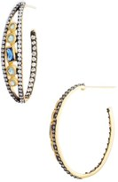 Freida Rothman Modern Mosaic Tesserae Hoop Earrings