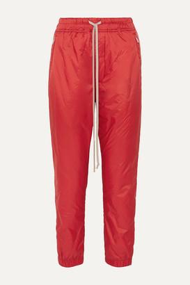 Rick Owens Nylon Track Pants - Red