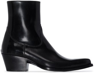 Sunflower Patent-Leather Cowboy Boots