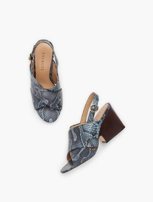 Talbots Amberley Slingback Wedge Sandals - Embossed
