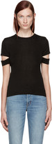 Helmut Lang Black Baby Rib Slash T-Shirt