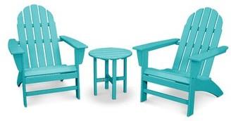 Polywood Classic Adirondack 3 Piece Seating Group Frame Color: Aruba