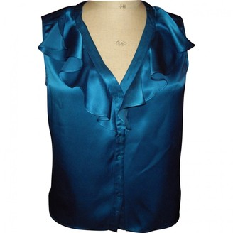 Gerard Darel Blue Silk Top for Women