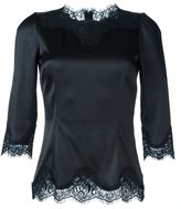 Dolce & Gabbana lace trim fitted blouse