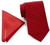 Tommy Hilfiger Solid Silk Pocket Square & Silk Tie Set