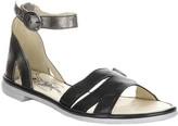 Fly London Women's Sandals 000 - Black & Bronze Ankle-Strap Camo Leather Sandal - Women