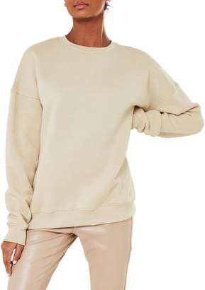 Missguided Oversized-Fit Crewneck Sweatshirt