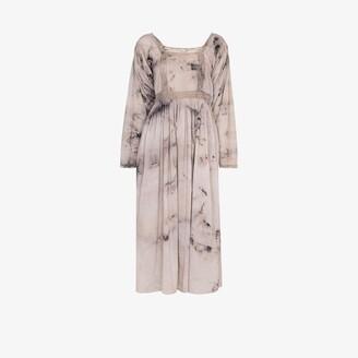 Mimi Prober Catherine tie-dye lace midi dress