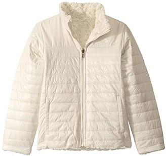 The North Face Kids Reversible Mossbud Swirl Jacket (Little Kids/Big Kids) (Montague Blue Denim Print) Girl's Coat