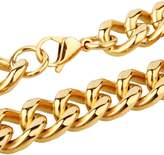 """Innovative jewelry 15mm Wide Pltaed Stainless Steel Cuban Curb Link Chain Men's Necklace Or Bracelet,7-40""""(16"""")"""