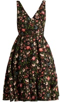 Erdem Gaby Convertine-print matelassé dress