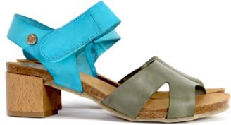 Jonny's Turquoise and Olive High Heel Sandal - 38