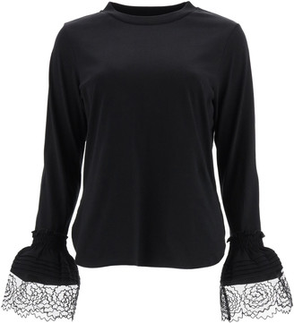 See by Chloe T-shirt With Lace Cuffs