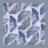 Emily Carter The Feather Pocket Square Powder Blue