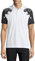 Valentino Panther-Print Polo Shirt