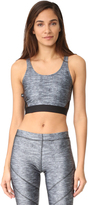 Terez Heathered Crop Top with Fishnet