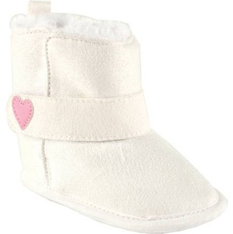 Luvable Friends Newborn Baby Girls' Faux Suede Boots