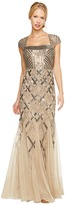 Adrianna Papell Cap Sleeve Bead Dress Women's Dress