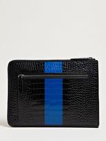 Dries Van Noten Men's Contrast Stripe iPad Case
