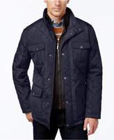 London Fog Men's Corduroy-Trim Layered Quilted Jacket