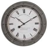Uttermost Porthole Wall Clock Gray