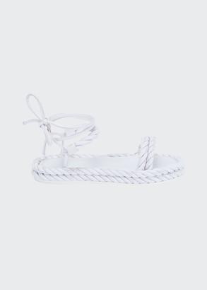 Valentino Garavani 100mm The Rope Ankle-Tie Sandals