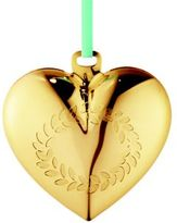 Georg Jensen 24K Goldplated Brass Christmas Heart Ornament
