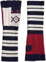 Burberry geometric fingerless gloves