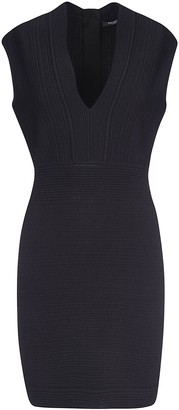 Balmain Rear Zip V-neck Dress