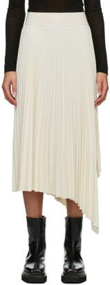 Joseph White Swinton Pleated Ribbed Skirt