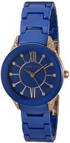 Anne Klein Women's Quartz Metal and Ceramic Dress Watch, Color:Blue (Model: AK/2388RGCB)