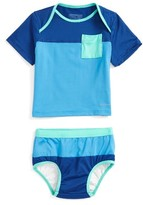 Patagonia Infant Boy's 'Little Sol' Two-Piece Rashguard Swimsuit