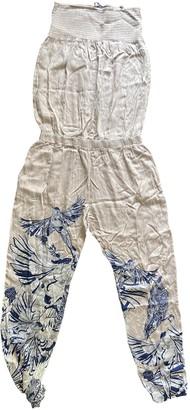 GUESS Ecru Cotton Dresses