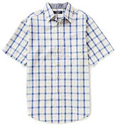 Roundtree & Yorke Casuals Short-Sleeve Check Point Collar Sportshirt
