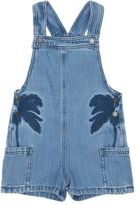 Stella McCartney Kids Denim Overalls W/ Embroidered Palms