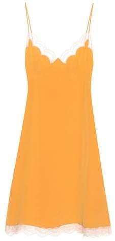 Chloé Silk-crêpe slip dress