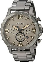Fossil Men's JR1523 Nate Chronograph Smoke Stainless Steel Watch