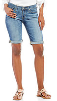 Big Star Alex Rolled Cuff Stretch Denim Bermuda Shorts