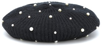 Jennifer Behr Coco embellished wool beret