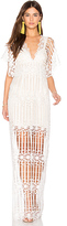 Free People Night Whispers Lace Maxi Dress in White. - size 0 (also in )