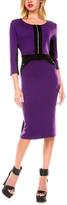 Stanzino Purple Zip-Front Sheath Dress
