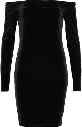 Bailey 44 Off-the-shoulder Stretch-velvet Mini Dress