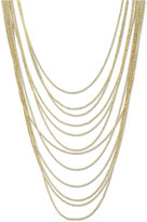 2028 Gold-Tone Multi-Row Chain Necklace