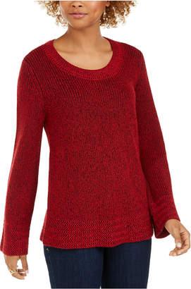 Style&Co. Style & Co Petite Mixed-Stitch Sweater
