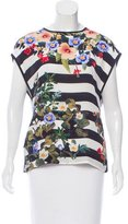 Mother of Pearl Sleeveless Printed Silk Top