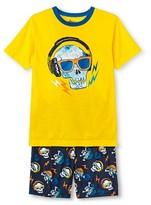 Circo Boys' 2-Piece Skull Pajama Set Yellow