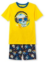 Circo Boys' 2pc Skull Pajama Set Yellow